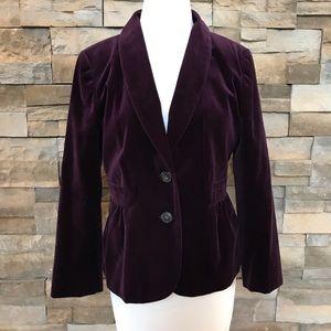 J Crew purple velvet blazer/jacket
